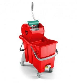 Двойное ведро TTS ActionPro 30 с отжимом Dry, красное