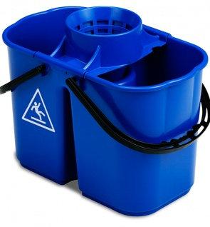 Ведро TTS FOX двойное синее с отжимом 8+6 л