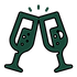 Champagne Glasses - Green 256px.png