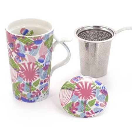 Mug with Lid & Strainer