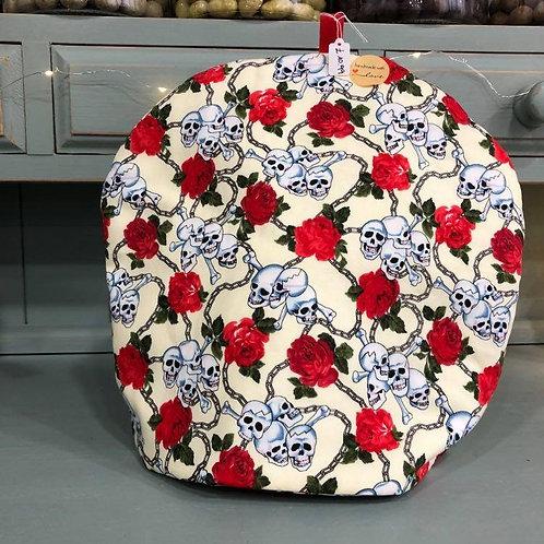 Craft Tea Cosy Roses & Skulls