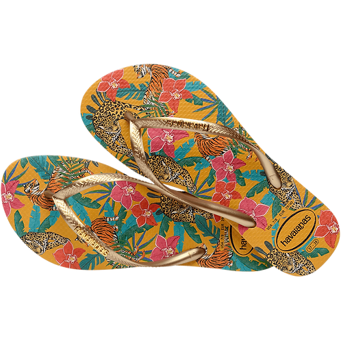 HAVAIANAS SLIM TROPICAL GOLD