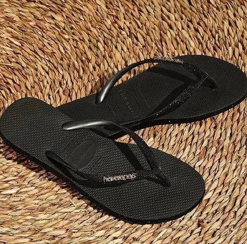 HAVAIANAS SLIM SPARKLE BLACK
