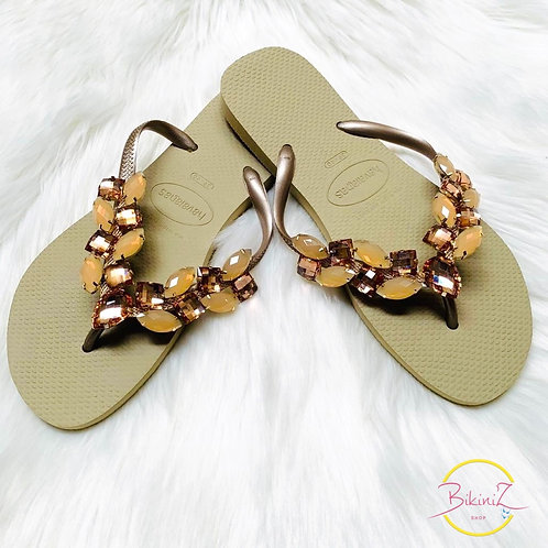 HAVAIANAS SLIM GOLD CLAIR CUSTO B