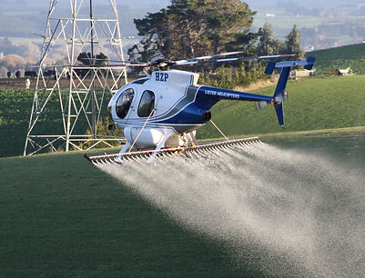 Helicopter aerial gorse spraying