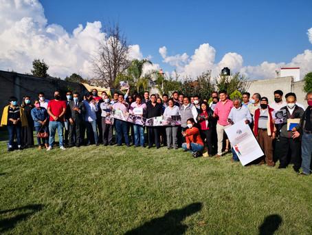 El senador por Morena César Cravioto visita la Ribereña, Tlaxcala