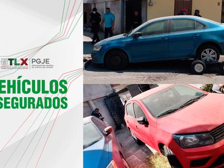 EN DILIGENCIA DE EXTRACCIÓN PGJE RECUPERA DOS VEHÍCULOSCON REPORTE DE ROBO EN PUEBLA