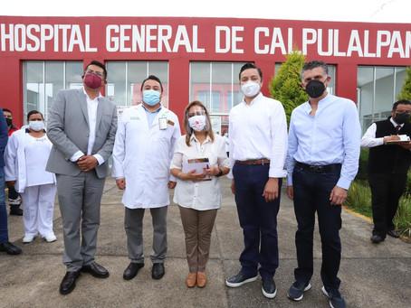 LORENA CUÉLLAR SUPERVISA LOS 4 HOSPITALES DE TLAXCALA