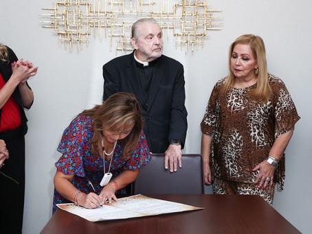 Se suma Lorena Cuéllar a Declaración Binacional contra la Trata de Personas
