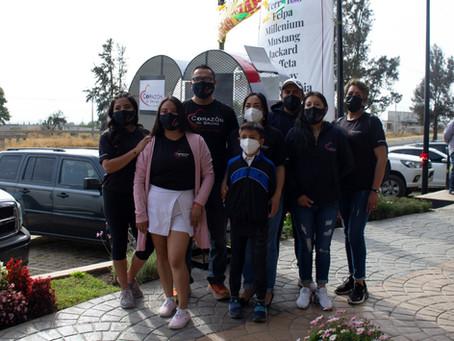 La fundación Corazón de Bruno, instala contenedor de tapitas en plaza Borboleta