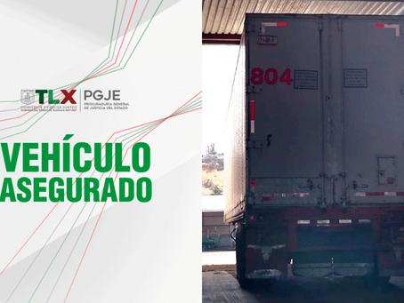RECUPERA PGJE TRACTOCAMIÓN CON REPORTE DE ROBO EN EL ESTADO DE MÉXICO