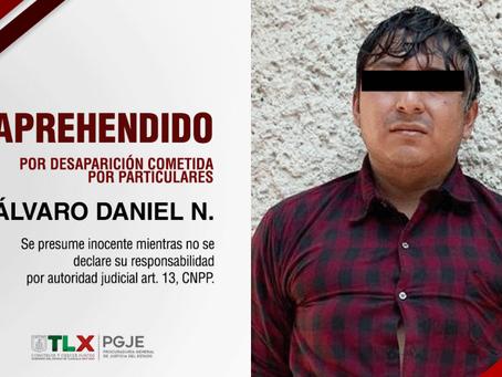 CAPTURAN PROCURADURÍA DE TLAXCALA Y FISCALÍA DEL ESTADO DE MÉXICO A PROBABLE INVOLUCRADO EN LA DESAP