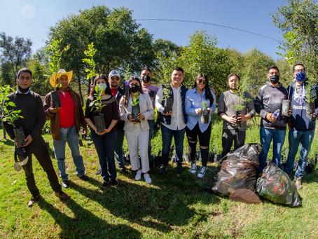 Entregan tres mil árboles a ciudadanos de Zacatelco