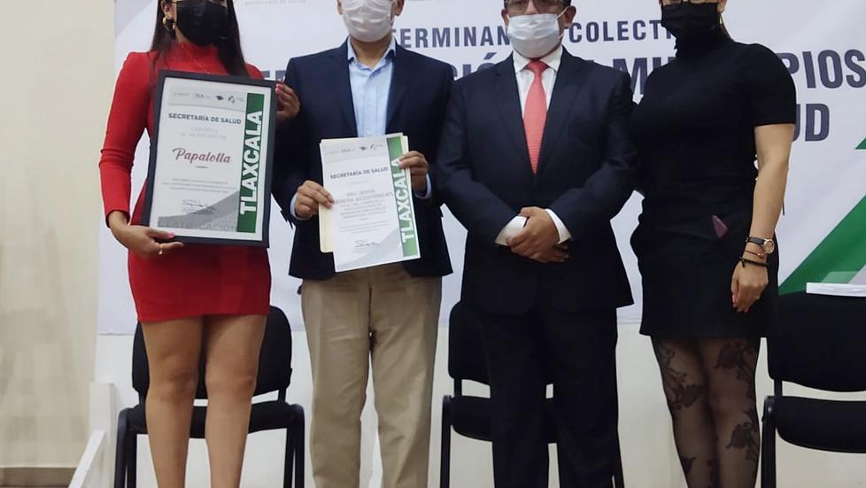 PAPALOTLA PARTICIPA EN LA CERTIFICACIÓN DE MUNICIPIOS PROMOTORES DE LA SALUD.