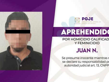 CAPTURA PGJE A 2° IMPUTADO INVOLUCRADO EN HOMICIDIO DE UN HOMBRE Y FEMINICIDIO OCURRIDOS EN 2019