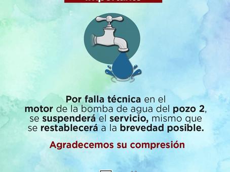 Después de rendir su tercer informe de gobierno, Badillo Jaramillo deja sin agua a su Municipio sin