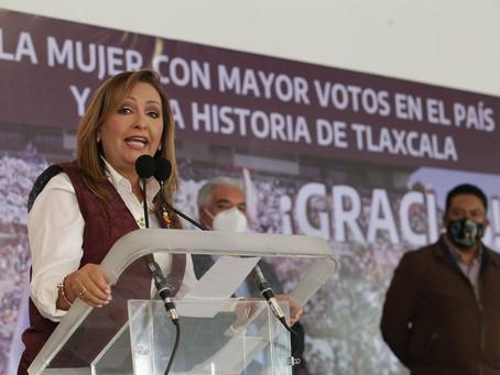 Juntos, escribiremos la nueva historia de Tlaxcala: Lorena Cuéllar