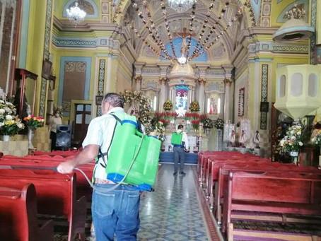 Desinfección de iglesias al 85%