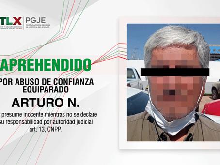 APREHENDEN PROCURADURÍA DE TLAXCALA PGJE Y FISCALÍA DEL ESTADO DE MÉXICO A IMPUTADO POR ABUSO DE CON