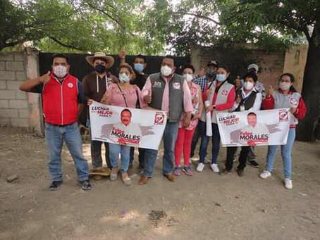 Texoloc respalda a Felipe Morales para llegar al Congreso de la Unión.