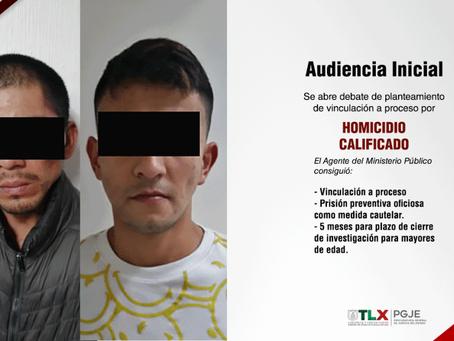 CONSIGUE PGJE VINCULACIÓN A PROCESO CONTRA DOS IMPUTADOS POR EL HOMICIDIO DE UNA MUJER EN CHIAUTEMPA