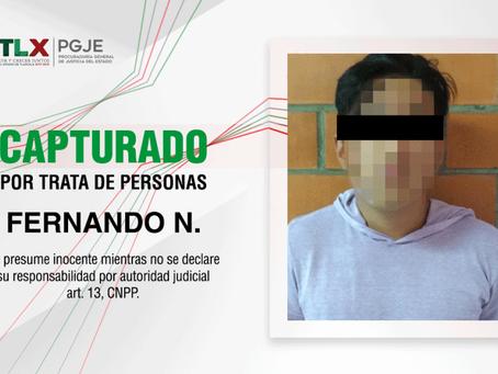 CAPTURAN PROCURADURÍA DE TLAXCALA Y FISCALÍA DE PUEBLA A IMPUTADO POR TRATA DE PERSONAS