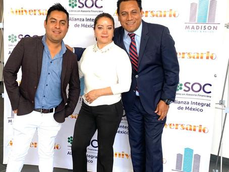 MADISON Bienes & Raíces celebró su 3er. aniversario invitando a SAGA a dar conferencia.