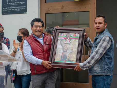 Hildeberto Pérez Álvarez coloca Bando Solemne de las Fiestas Patrias en Zacatelco