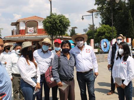 Con toque de puertas SAGA realiza primer recorrido en Teolocholco.