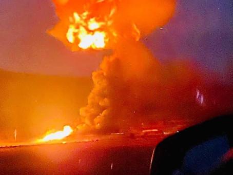 Gasera explota entre los límites de Hidalgo y Tlaxcala
