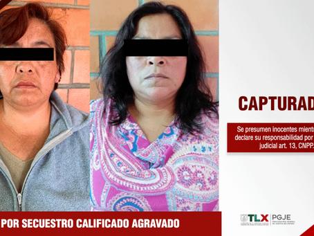 CAPTURAN PROCURADURÍA DE TLAXCALA Y CONASE A DOS IMPUTADAS POR SECUESTRO EN QUERÉTARO