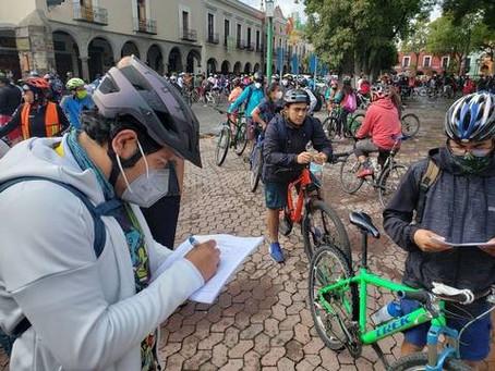 Organizan rodada para pedir ciclovía emergente en Tlaxcala