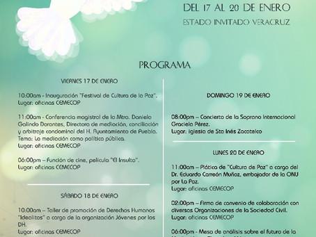 """Con """"Festival de Cultura de Paz"""" celebra su 1er. Año Centro de Mediación y Conciliación de Zacatelco"""