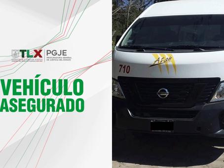 RECUPERA PGJE CAMIONETA DEL SERVICIO PÚBLICO LOCAL CON REPORTE DE ROBO VIGENTE
