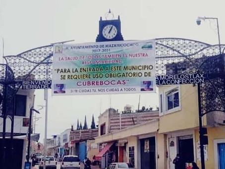 San Cosme Mazatecochco, redobla esfuerzos para erradicar la pandemia del Covid- 19