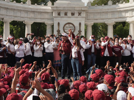Presentan a Lorena Cuéllar como virtual gobernadora de Tlaxcala en la CDMX