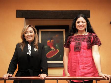 Lorena Cuéllar y Alejandra Frausto acuerdan trabajo coordinado a favor de la cultura