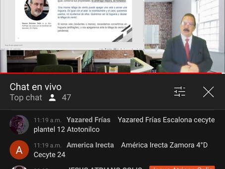 """PARTICIPARON ALUMNOS DE CECYTE EN WEBINAR""""ESTRATEGIAS DE COMERCIALIZACIÓN EN TIEMPOS DEL COVID-19"""""""