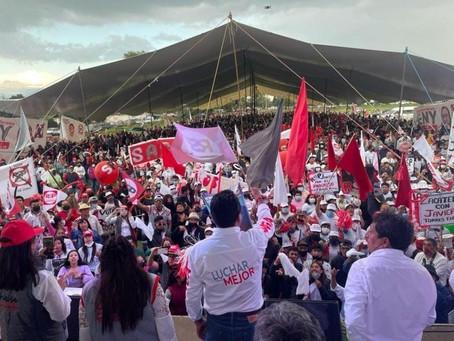 Miles de guerreras y guerreros tlaxcaltecas gritaron: ¡SAGA GOBERNADOR!