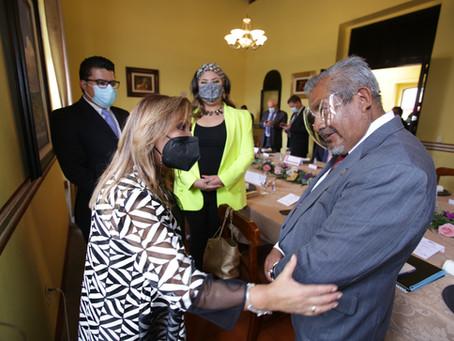 Lorena Cuéllar promueve a Tlaxcala ante diplomáticos de cuatro países