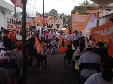 Un verdadero honor encabezar esta gran campaña de MC en el 2º Distrito Electoral: Pérez Lira.