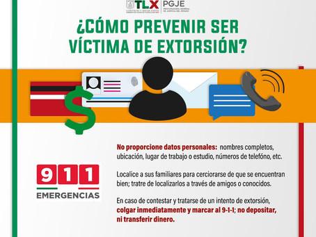 EMITE PGJE MEDIDAS PARA PREVENIR NUEVA MODALIDAD DE EXTORSIÓN