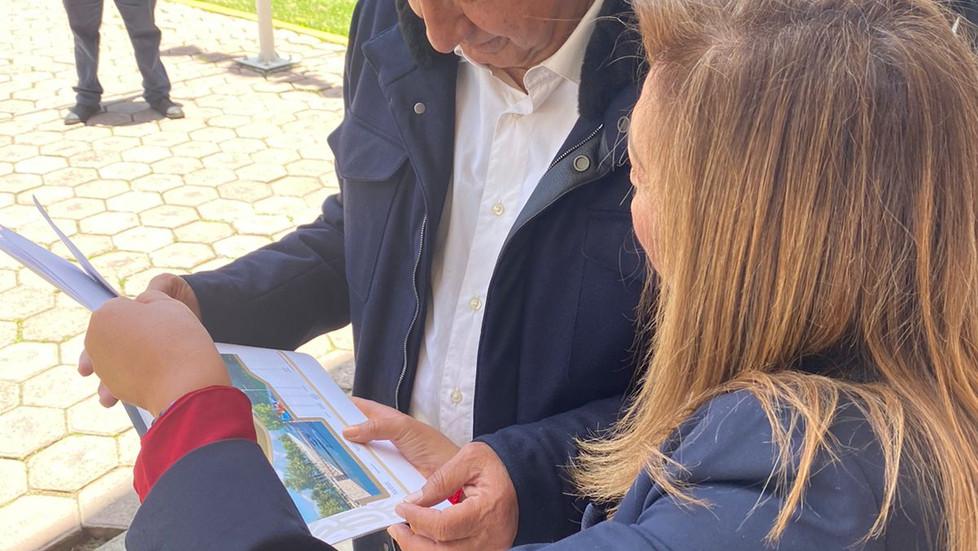 Será universal la pensión para discapacidad en Tlaxcala, acuerdan AMLO y Lorena Cuéllar
