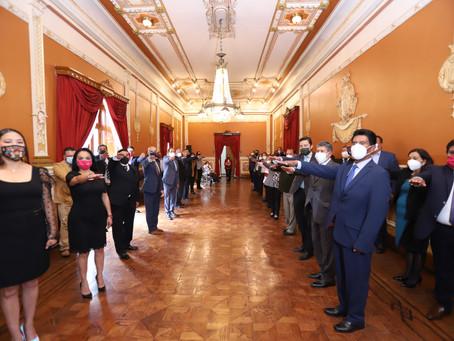 Pide Lorena Cuéllar a nuevos funcionarios ser ejemplo como servidores públicos