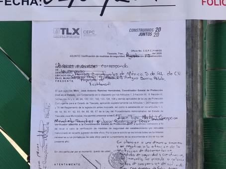 Gobierno de Papalotla reconoce y agradece el respaldo del gobierno estatal en la clausura de empresa