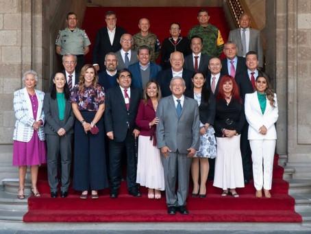 Apoyo mutuo Federación – Estados para contrarrestar inseguridad, Lorena Cuéllar en reunión con AMLO