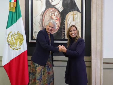 Impulsarán Olga Sánchez y Lorena Cuéllar líneas de acción para garantizar gobernabilidad