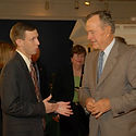 Steve Fullhart and President George H. W. Bush