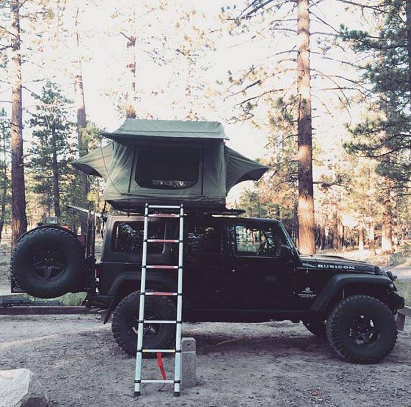 Jeep Rubicon Rooftop Setup