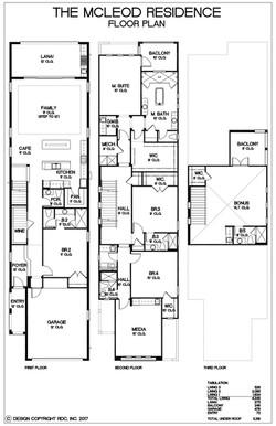 Mcleod Residence- Floor plans